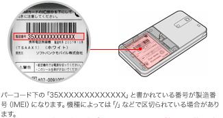 電池カバー/電池パックを取り外すことで確認できます。